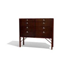 Antique Cabinet Living Room storage locker 3d model