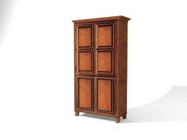 Bedroom Furniture Antique clothes press 3d model
