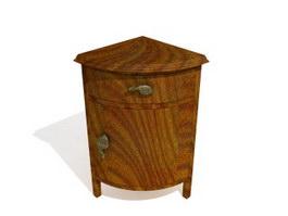 Antique Furniture Corner Cabinet 3d model