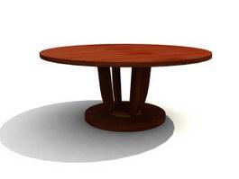 Restaurant Furniture wood banquet table 3d model