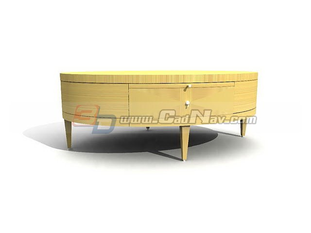 Oval Coffee Table With Drawer 3d Model 3dmax 3ds Files