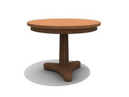 Antique Table Wooden Tea table 3d model