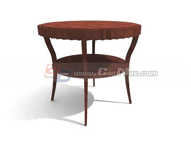 european style wooden coffee table 3d model 3dmax 3ds files free download modeling 3226 on cadnav. Black Bedroom Furniture Sets. Home Design Ideas