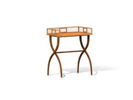Antique Furniture carved End table 3d model