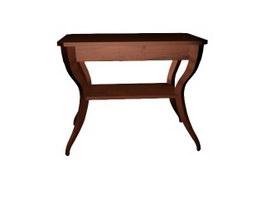 Solid wooden antique end table 3d model