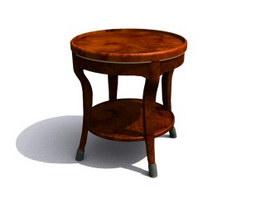 Wooden Antique End Table 3d model