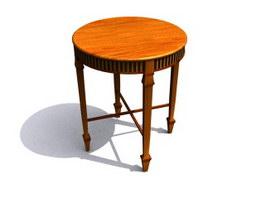 Wood Decorative Antique End Table 3d model
