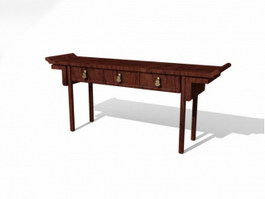 Chinese Furniture Antique Console Table 3d model