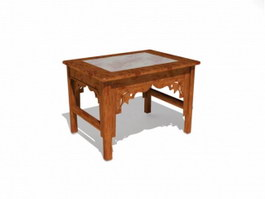 Chinese Antique Furniture End table 3d model