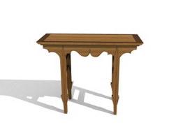 Antique reproduction console table 3d model