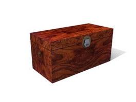 Wood Antique Storage Locker 3d model