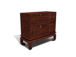 Antique Storage Locker with drawer 3d model