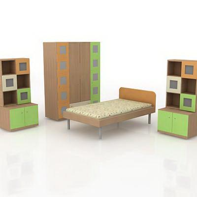 Children bedroom furniture 3d model. Children bedroom furniture 3d model 3DMax files free download