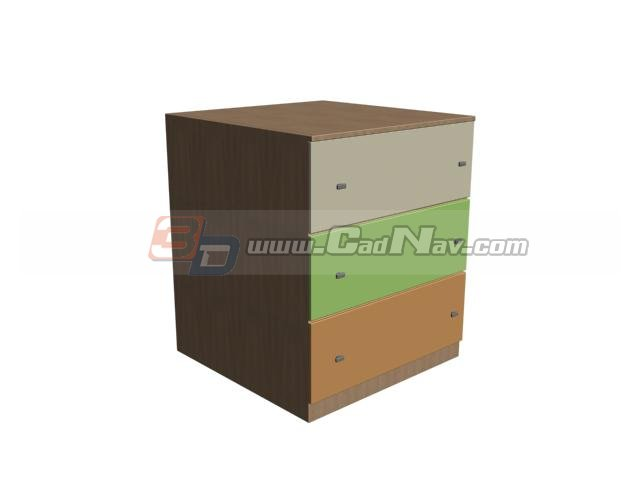 Kid Cabinet Storage Locker 3d Model 3DMax Files Free ...