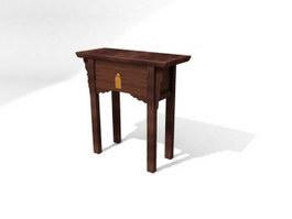 Antique console table 3d model