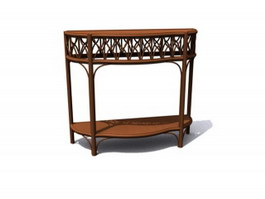 Carved antique console table 3d model