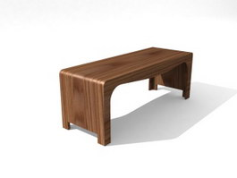 Home Furniture Wooden End table 3d model