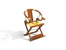 Foldable antique chair 3d model