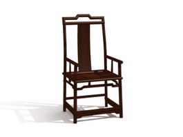 Chinese chippendale chair 3d model