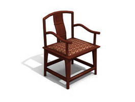 Chinese traditional chair 3d model