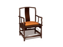 Chinese banquet chair 3d model