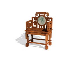 Chinese Throne Chair 3d model