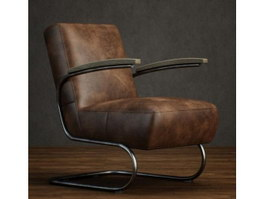 Leather Cantilever Chair for Living Room 3d model