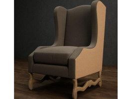 Antique Throne Chair Sofa 3d model
