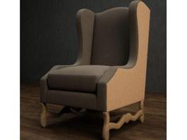 Antique Throne Chair Sofa 3d model