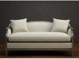 3-seater fabric couch 3d model