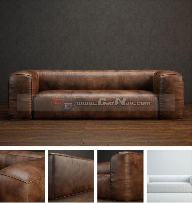 Modern Leather Sofa 3d Model 3dmax Files Free Download