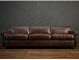 Home Furniture leather sofa 3d preview
