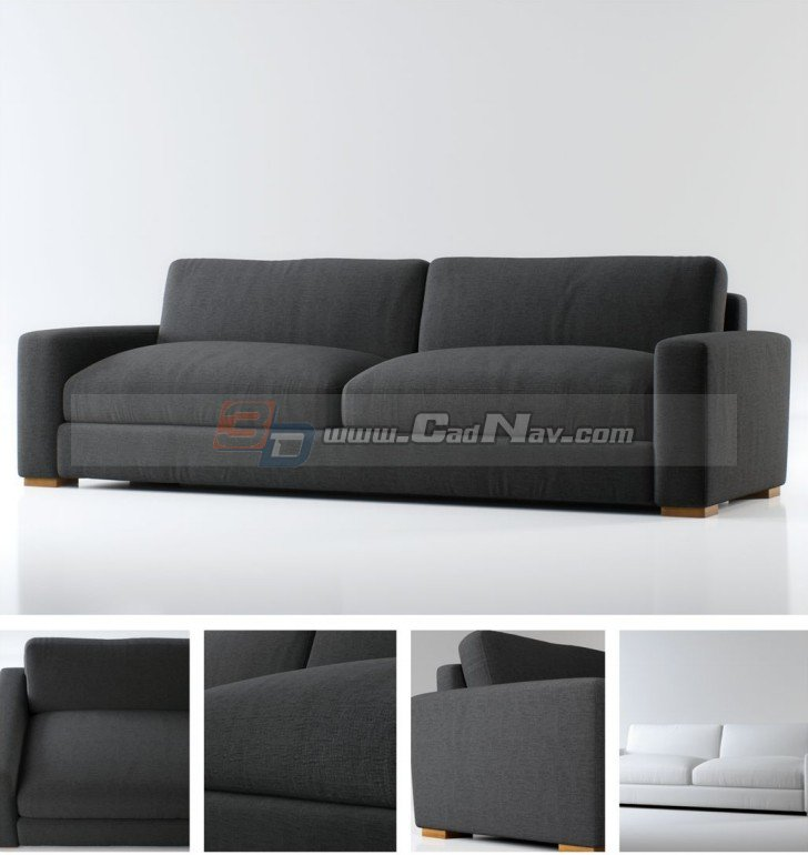 sitting room fabric sofa bed 3d model 3dmax files free