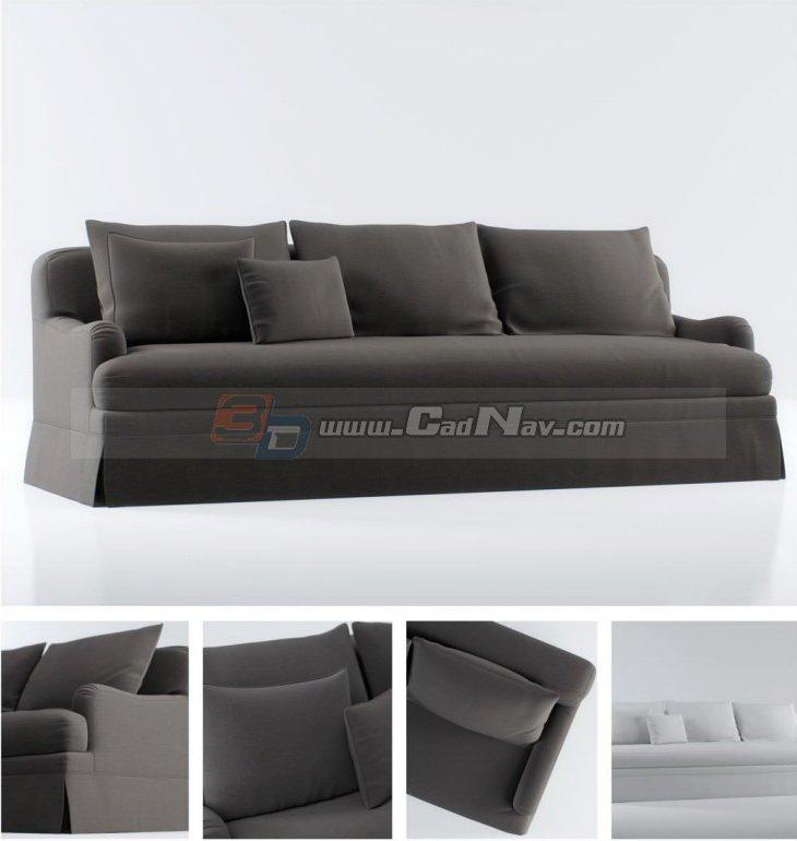 Baxter Sofa 3D Model Free