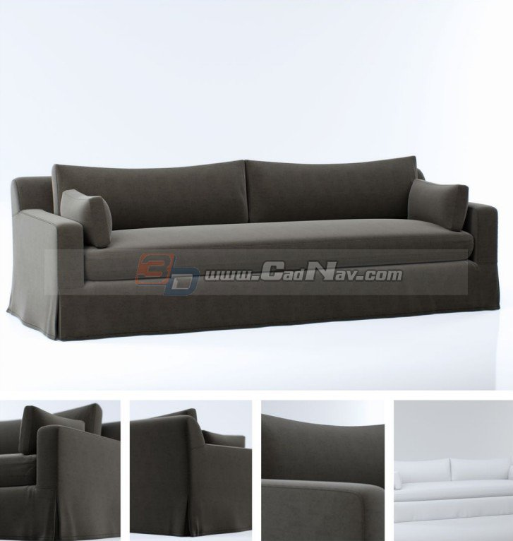 cushion fabric sofa bed 3d model 3dmax files free download