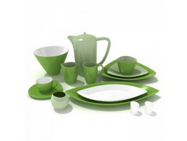 Porcelain Dinner Sets 3d model