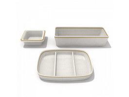 Melamine Dinner Plates 3d model