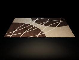 Handmade acrylic rug 3d model
