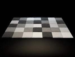 Bath mats rug 3d model