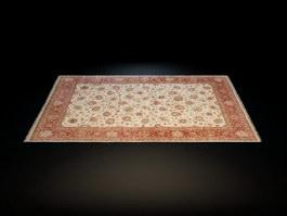 Hand tufted rug 3d model