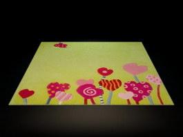 Printed children rug 3d model