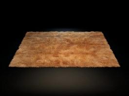 Soft shaggy wool rug 3d model