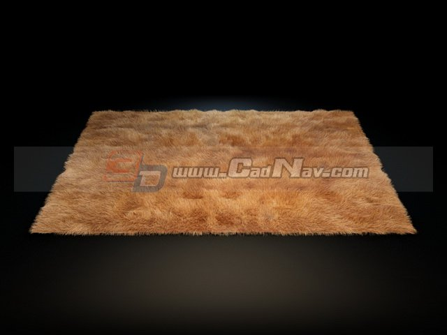 Soft Shaggy Wool Rug 3d Model 3dmax Files Free Download