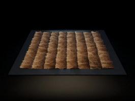 Camel hair carpet 3d model