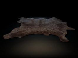 Animal Skin Carpet Rug 3d model