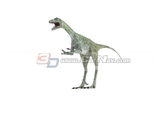 Compsognathus 3d rendering