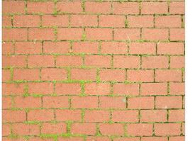 Ruddy brick floor texture