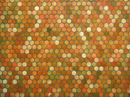 Rhombus mosaic wall tile texture