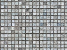Stone mosaic floor texture