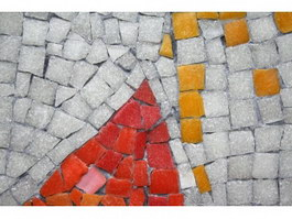 Natural slate mosaic floor tiles texture